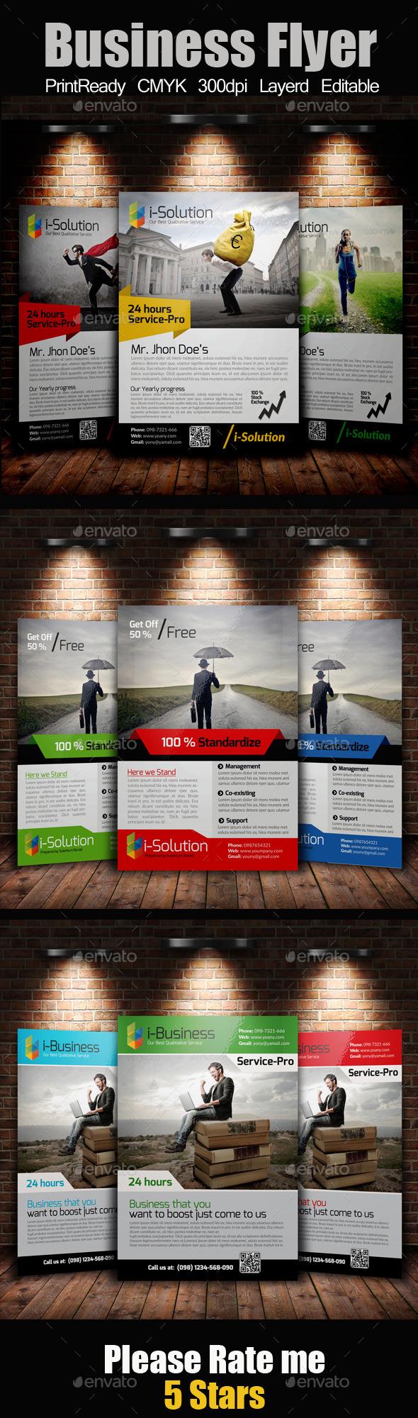 GraphicRiver A4 Business Flyer Bundle 10985536
