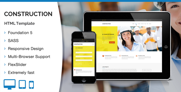 ThemeForest Construction HTML Template 10942722