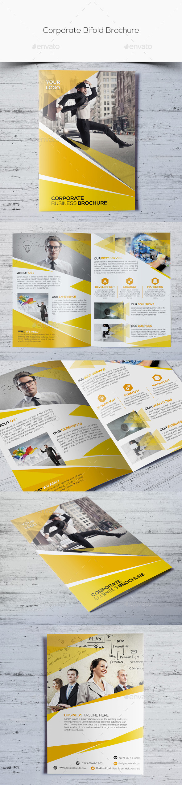 GraphicRiver Corporate Bifold Brochure 10985557