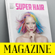Super Hair Magazine Template - GraphicRiver Item for Sale