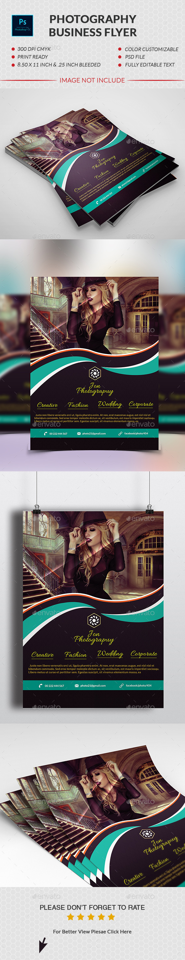 GraphicRiver Photography Business Flyer 10985628