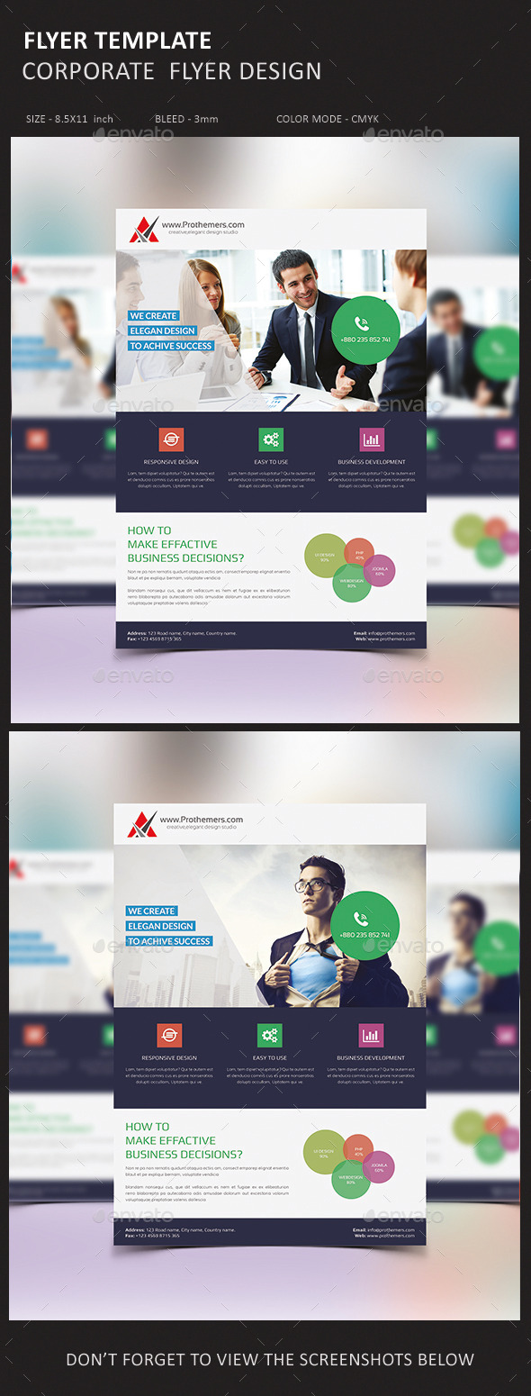 GraphicRiver Corporate Business Flyer 10985834