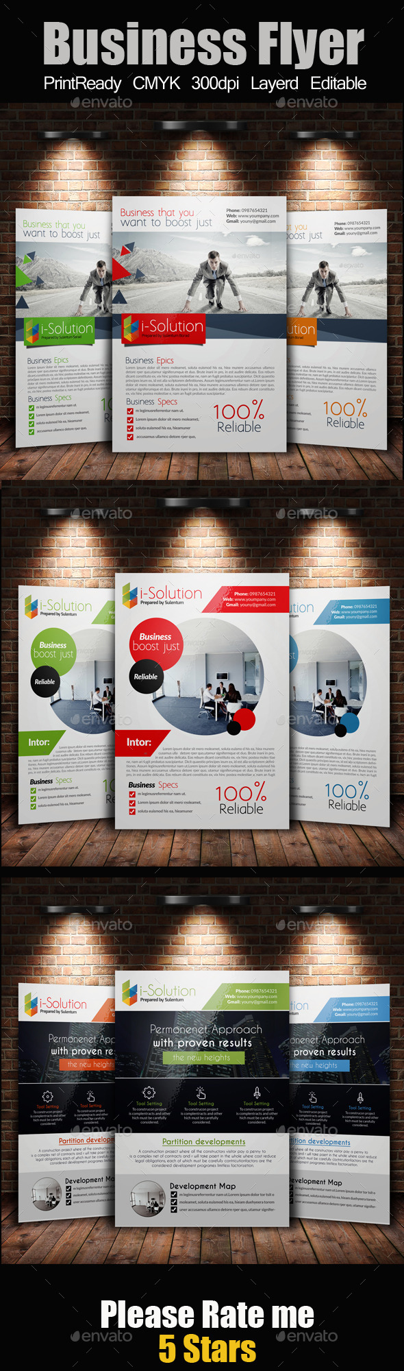 GraphicRiver A4 Business Flyer Bundle 10985881