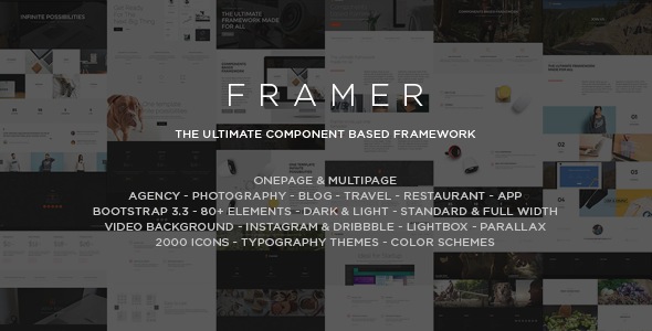 ThemeForest Framer Multi-Purpose Bootstrap HTML5 Template 10898825