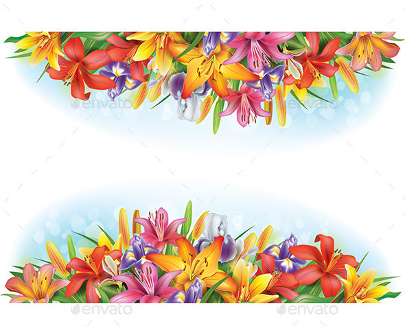GraphicRiver Banners of Flowers 10985966