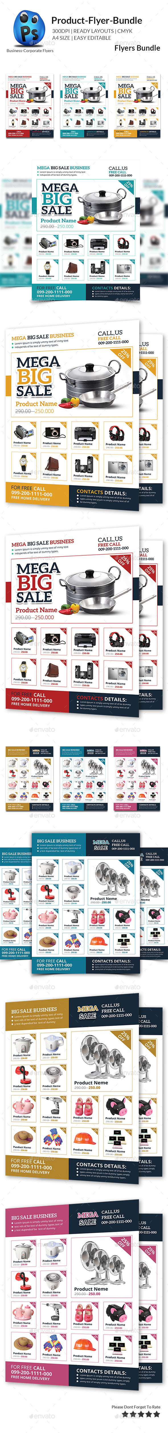 GraphicRiver Product Promotion Flyer Bundle 10986045