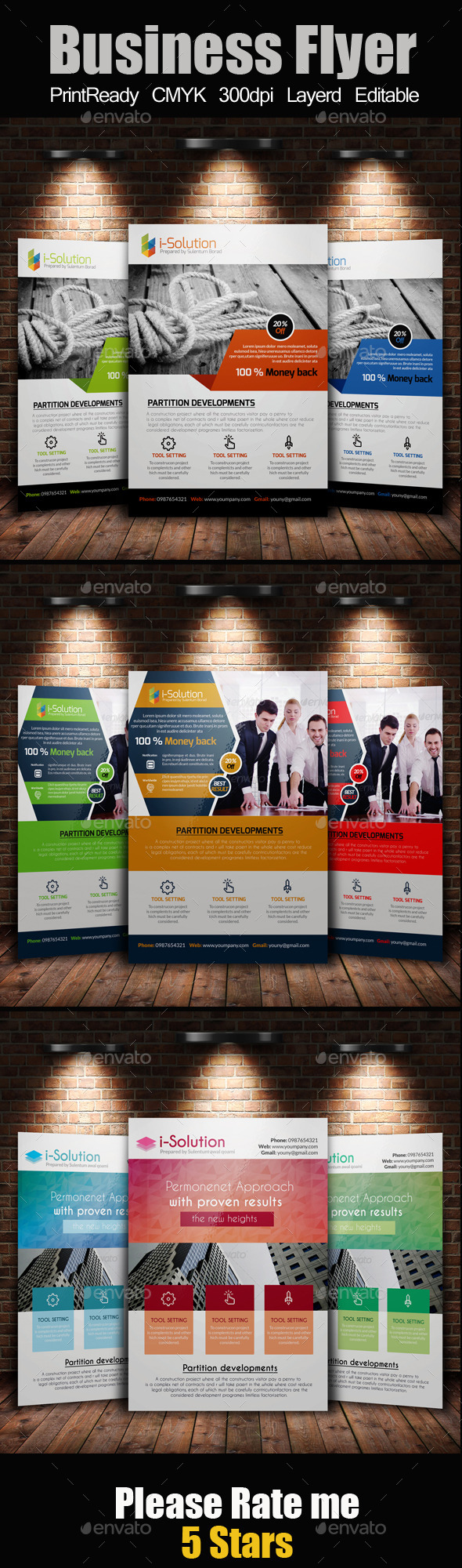 GraphicRiver A4 Business Flyer Template Bundle 10986245