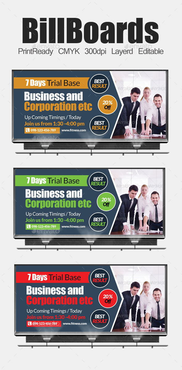 GraphicRiver Multi Purpose Business Billboards 10986270