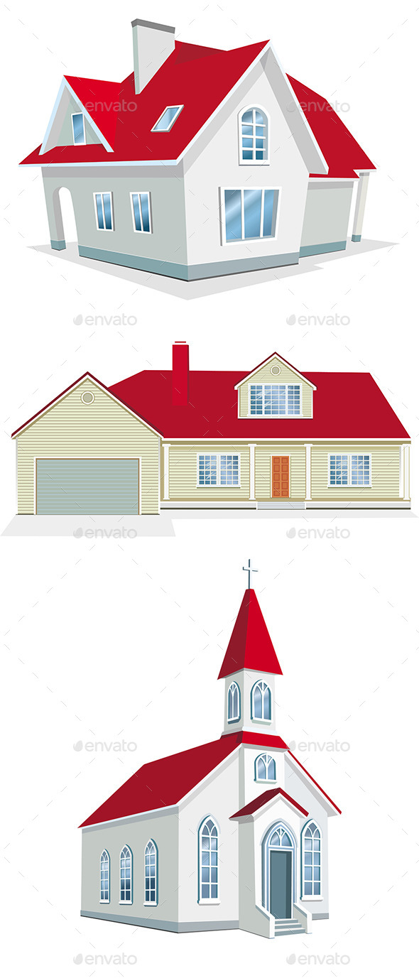 GraphicRiver Illustration of Houses 10986311