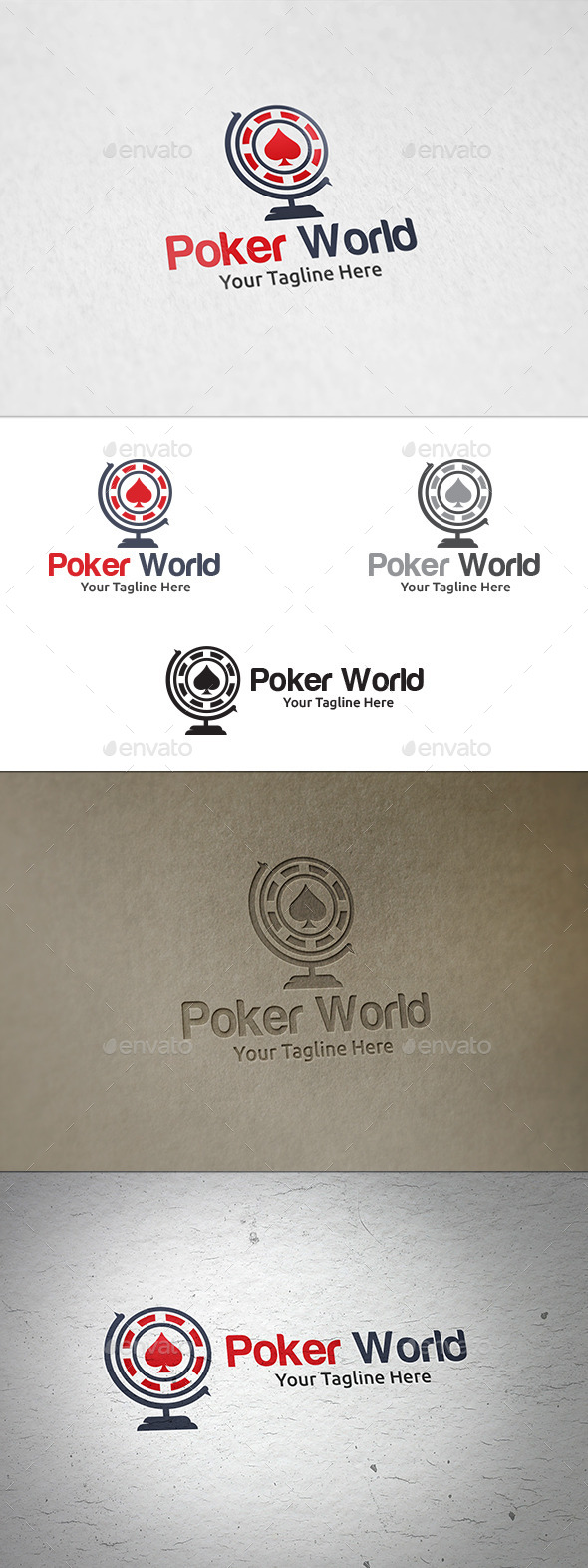 GraphicRiver Poker World Logo Template 10986346
