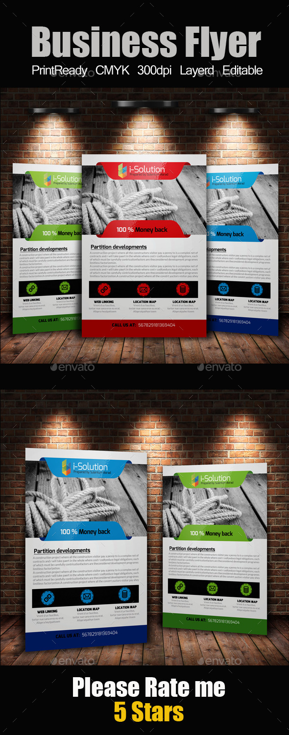 GraphicRiver A4 Business Flyer Template 10986348