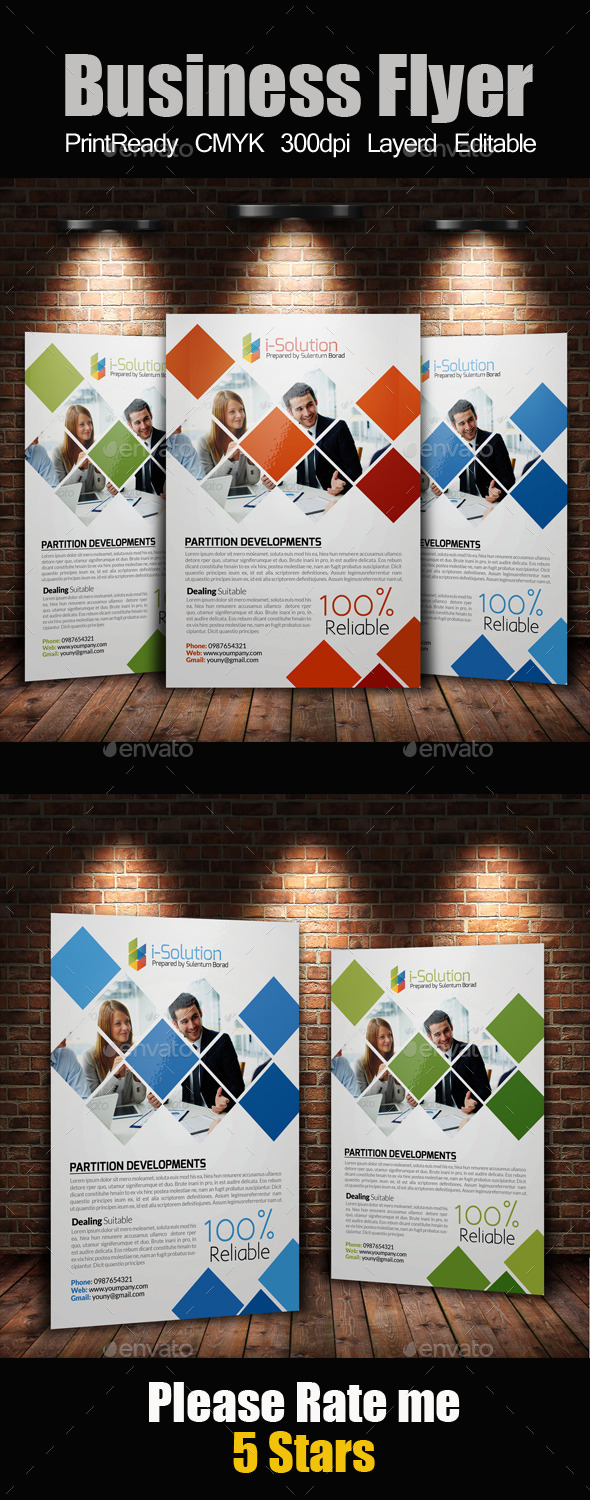 GraphicRiver A4 Business Flyer Template 10986434