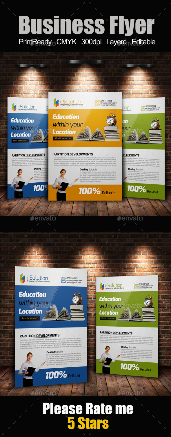 GraphicRiver Education Flyer Template 10986463