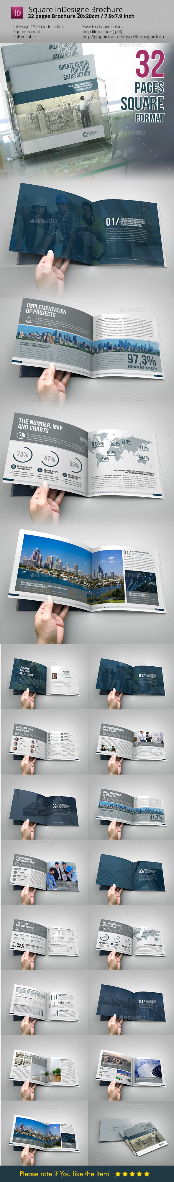 GraphicRiver Business Brochure Square InDesign Template 10986497
