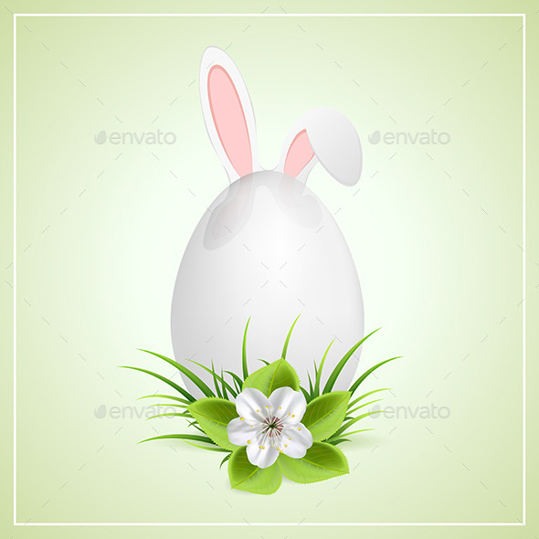 GraphicRiver Easter Egg and Bunny Ears 10986517