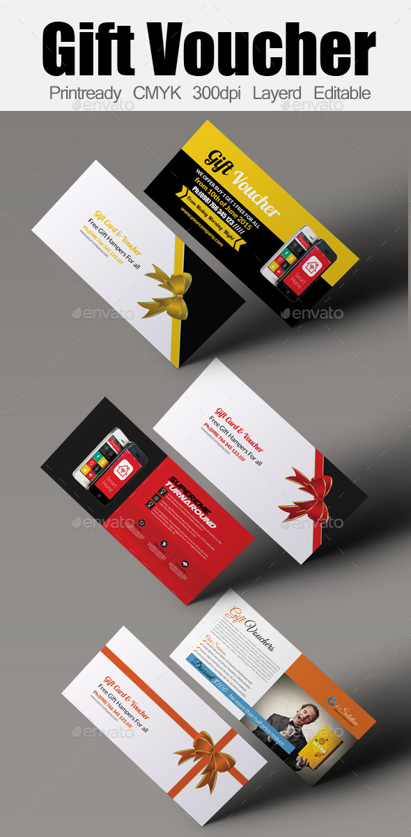 GraphicRiver Mobile Apps Gift Voucher Bundle 10986536