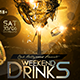 Weekend Drinks - GraphicRiver Item for Sale