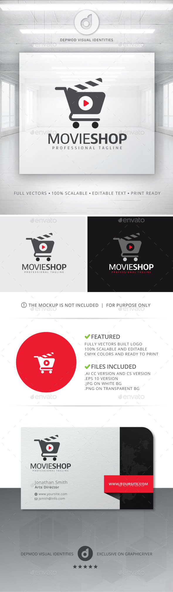 GraphicRiver Movie Shop Logo 10986644