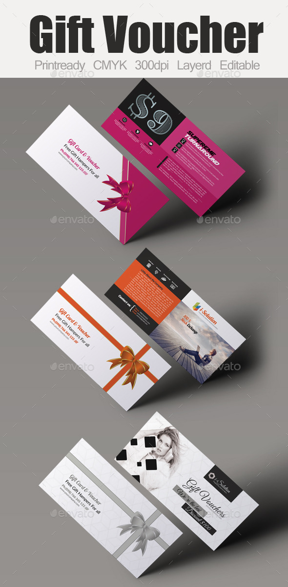 GraphicRiver Multi Use Business Gift Voucher Bundle 10986733