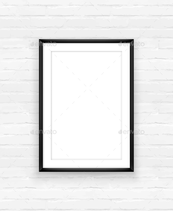 GraphicRiver Frame on Brick Wall 10986737