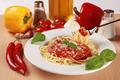 Fresh spaghetti meal