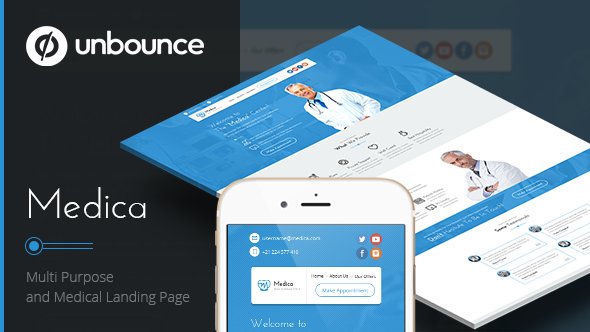 ThemeForest Medica Unbounce Medical Landing Page 10935089