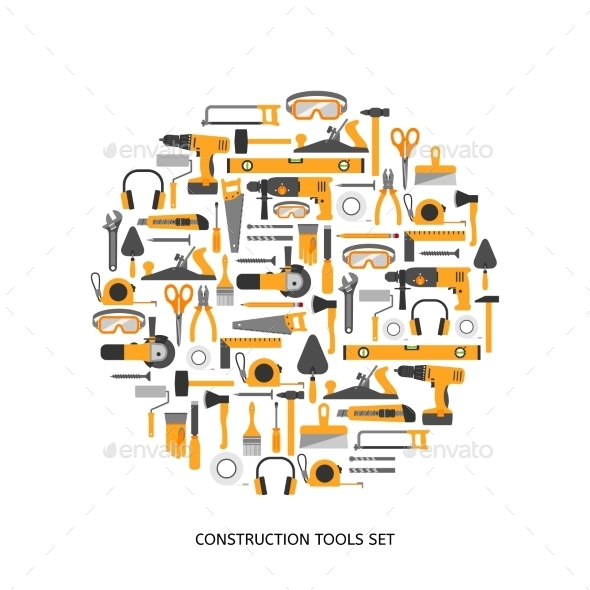 GraphicRiver Construction Tools Set 10986931