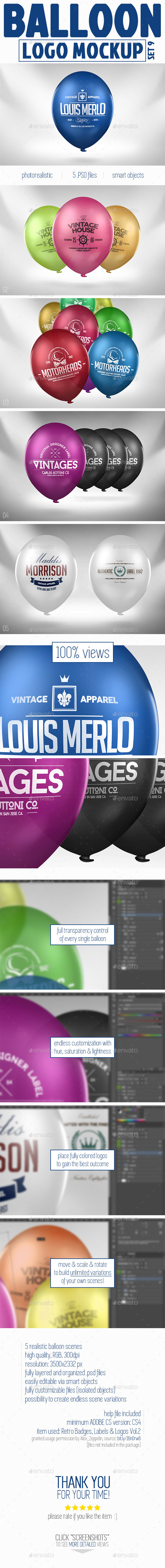GraphicRiver Balloon Logo Mock-up 10986934