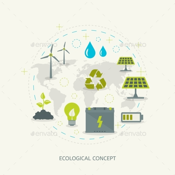 GraphicRiver Ecologic Renewable Energy Concept 10986937
