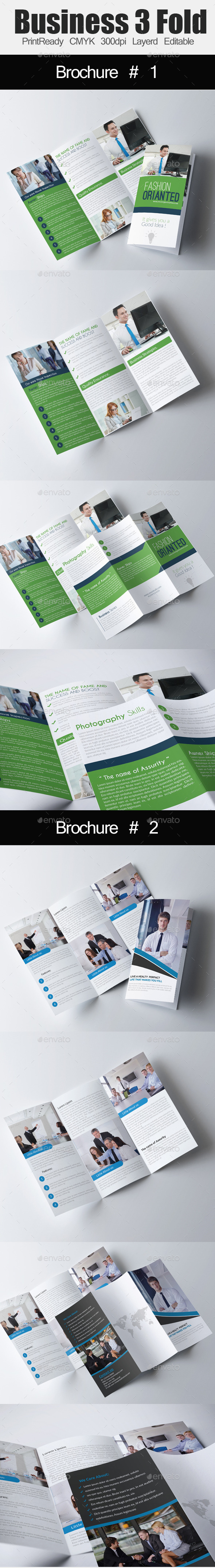 GraphicRiver Tri Fold Business Brochure Bundle 10987150