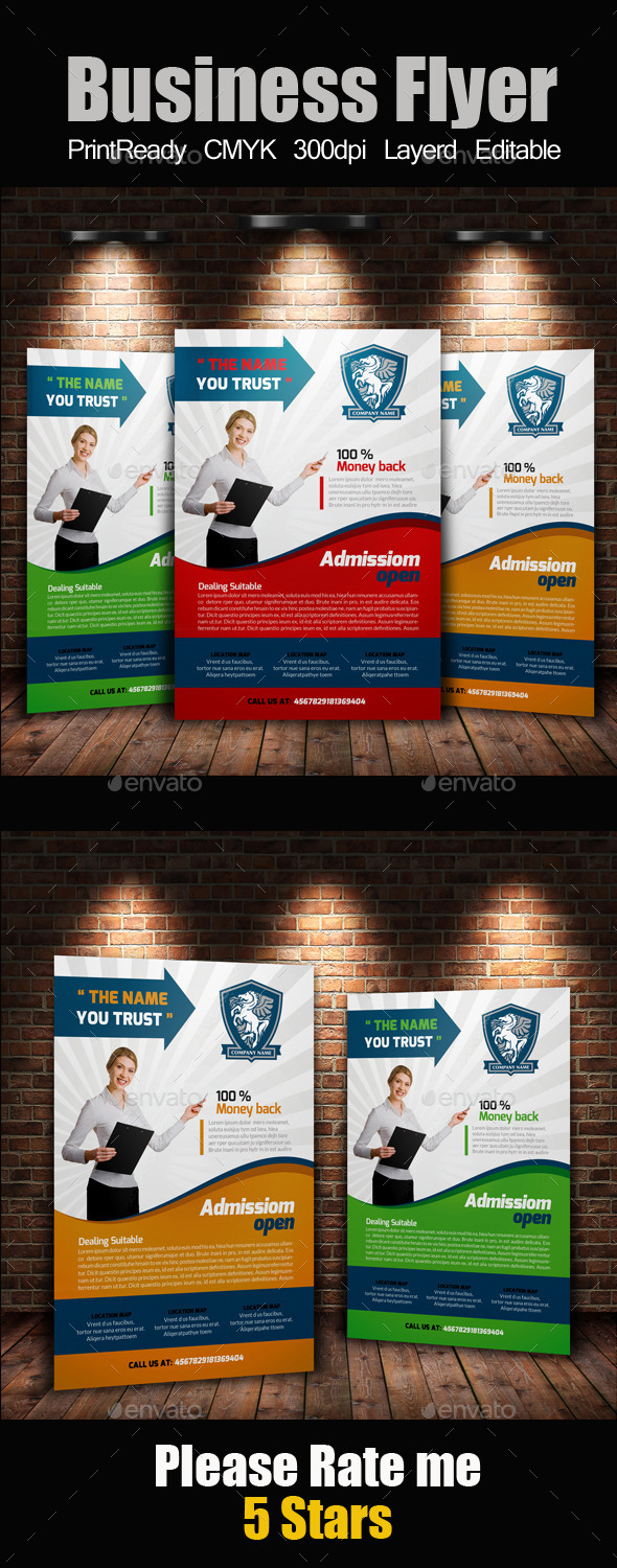 GraphicRiver Education Flyer Template 10987208