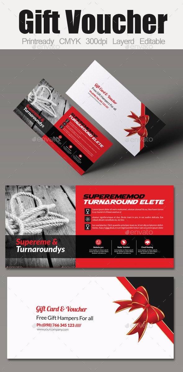 GraphicRiver Multi Use Business Gift Voucher 10987227