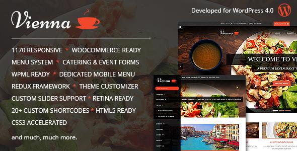 VIENNA - Responsive WordPress Restaurant Theme