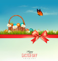Happy Easter background. Colorful Easter eggs and green grass.  - PhotoDune Item for Sale