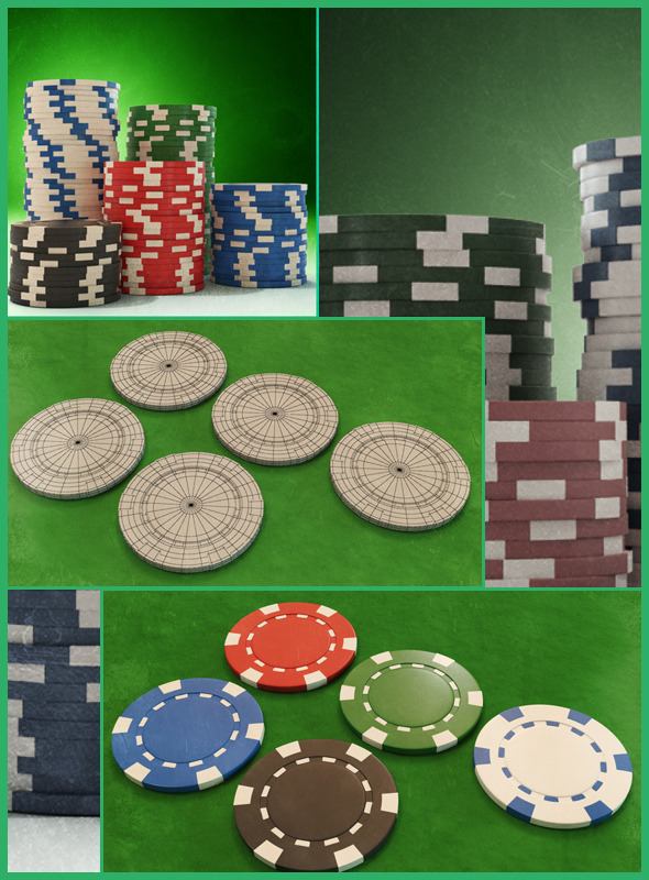 3DOcean Casino Color Chip 3D Models 10987826