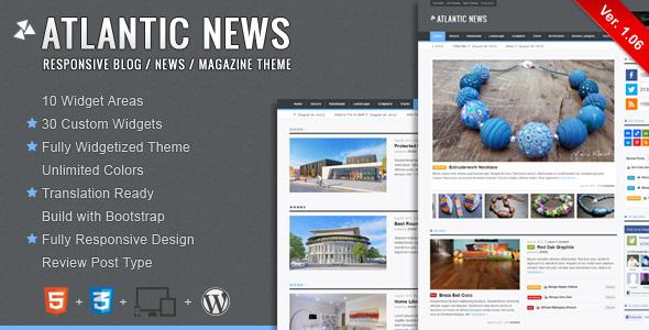 Atlantic News - Responsive WordPress Magazine Blog - Title Theme