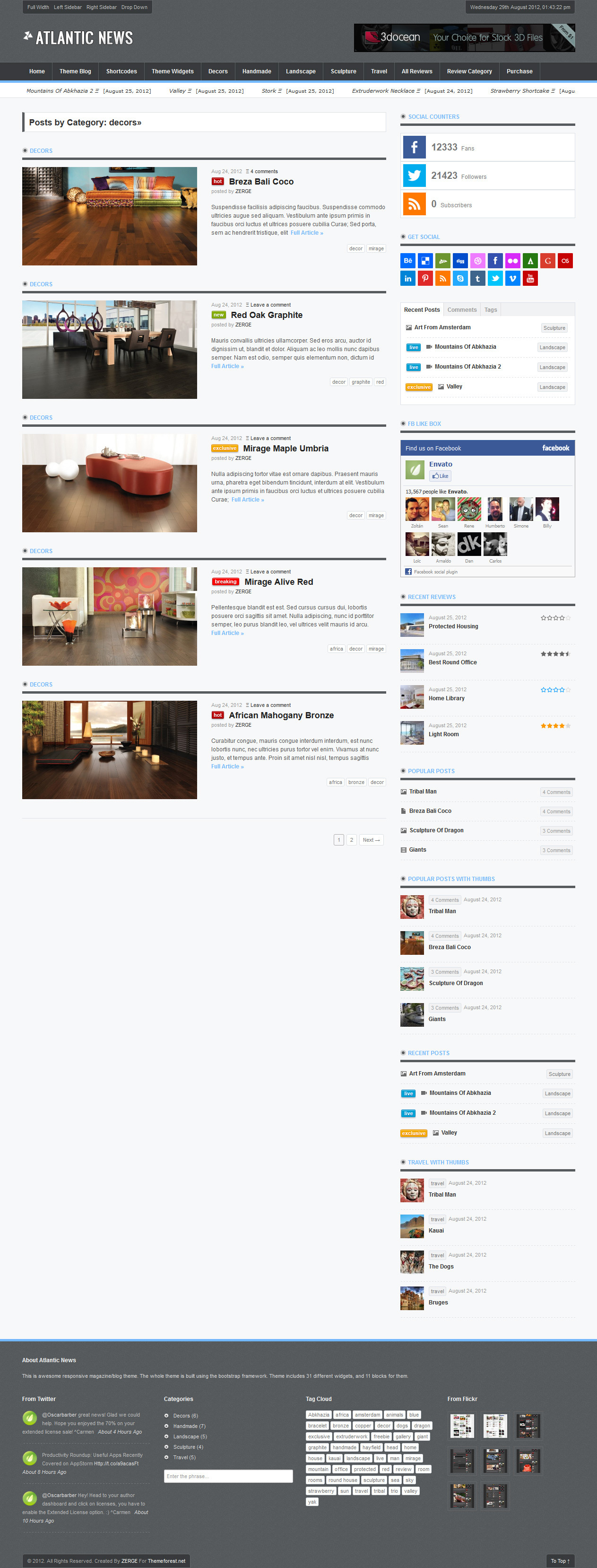 Atlantic News - Responsive WordPress Magazine Blog - 04_Category