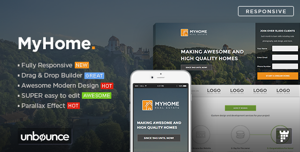 ThemeForest MYHOME Real Estate Unbounce Template 10950003