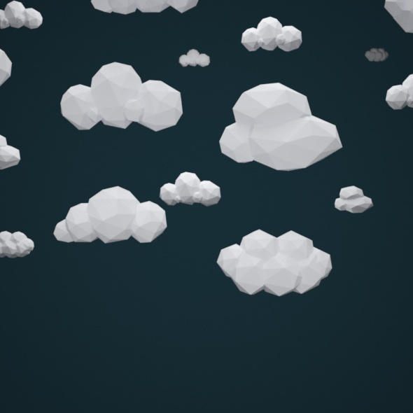 3DOcean Low Poly Clouds Pack 10987986