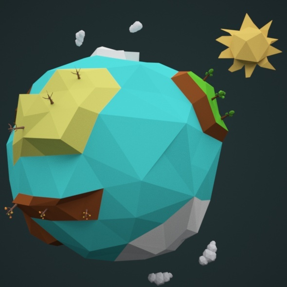 3DOcean Low Poly Earth 02 10988000