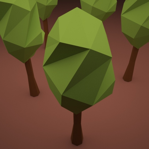 3DOcean Low Poly Twisted Tree 10988015