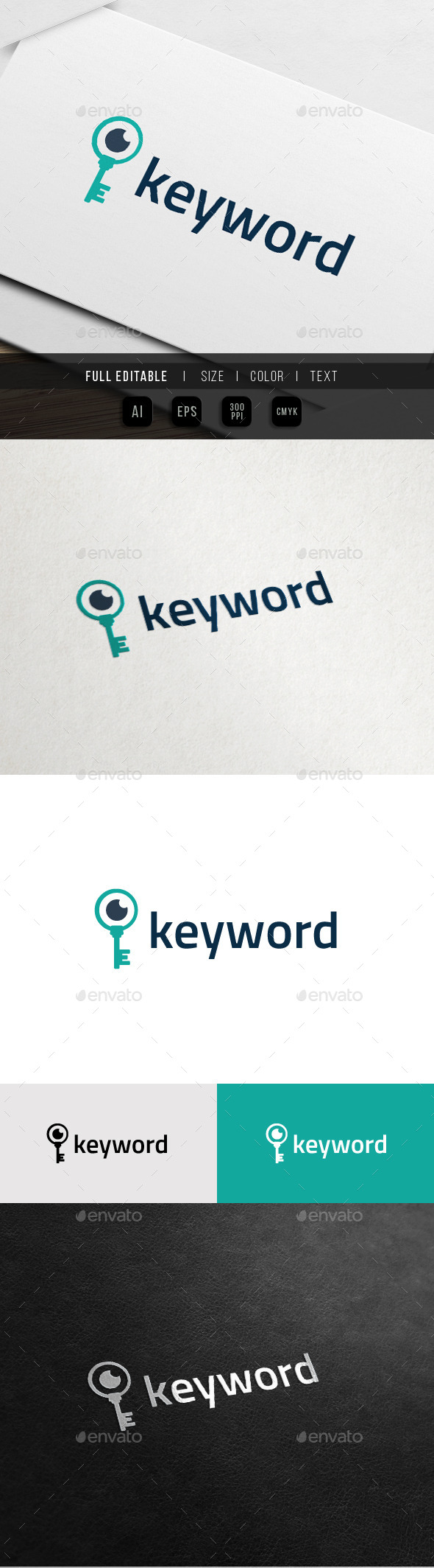 GraphicRiver Search Keyword SEO Expert Key Eye Logo 10988027