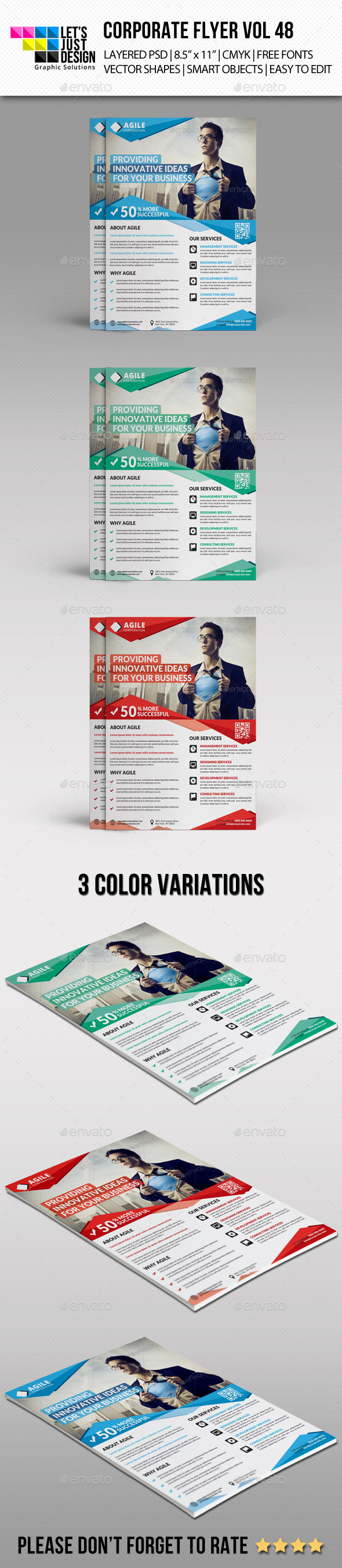 GraphicRiver Corporate Flyer Template Vol 48 10988033