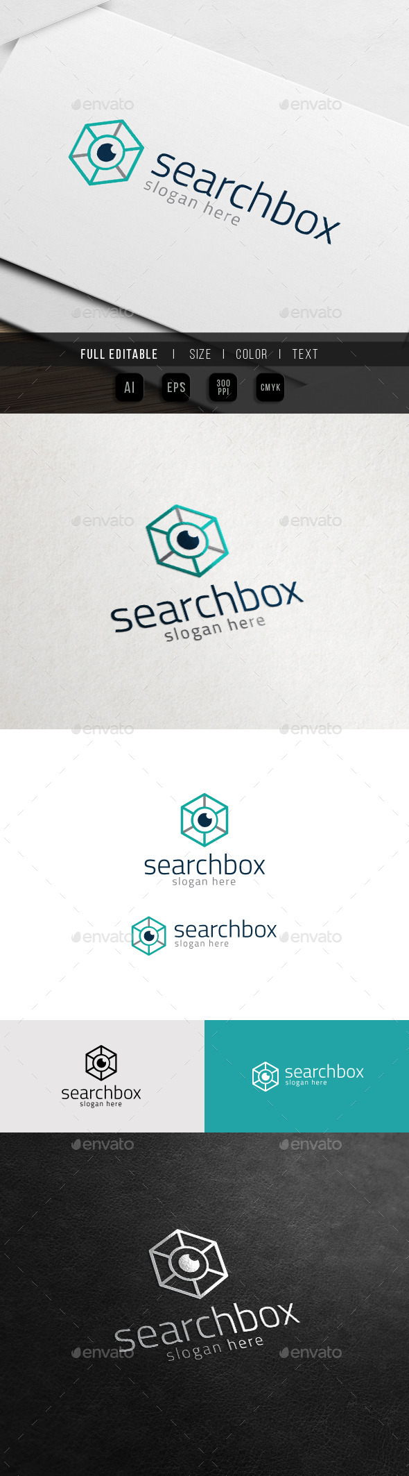 GraphicRiver Eye Box SEO Hexa Research Logo 10988043