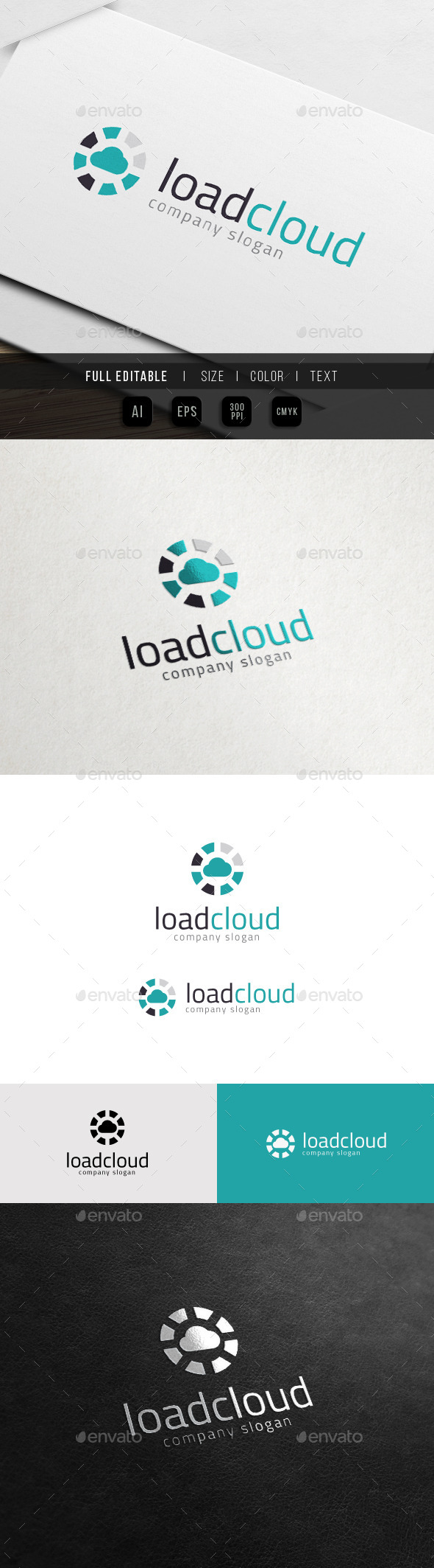 GraphicRiver Cloud Loading Data Hosting 10988059