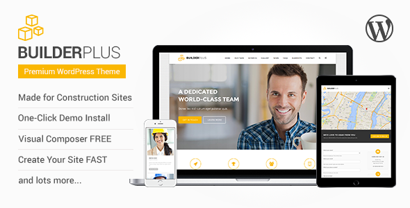 ThemeForest Builder Plus Construction Business WP Theme 10988062