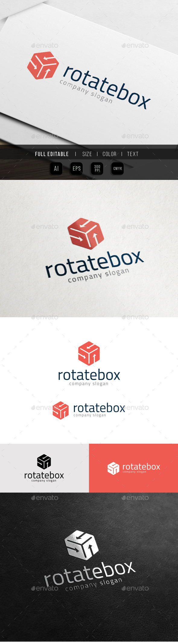 GraphicRiver Rotate Box Hexa Hosting 10988079