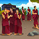Buddhist Monks in Tibet Temples - GraphicRiver Item for Sale
