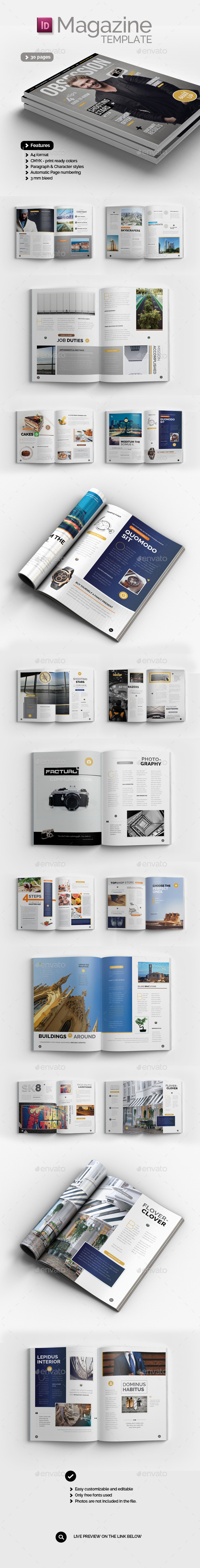 GraphicRiver Obsession Magazine Template 10988238