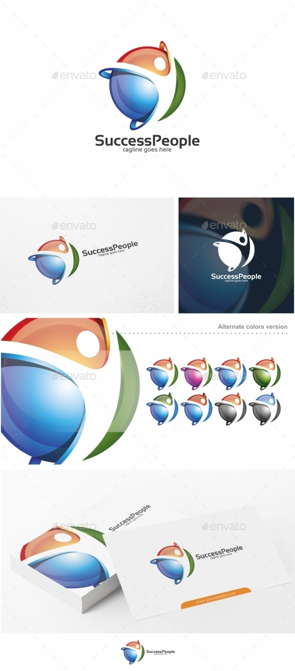 GraphicRiver Success People Logo Template 10988264